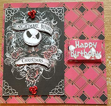 nightmare before christmas birthday card uk ; A1h0oPzWJAL