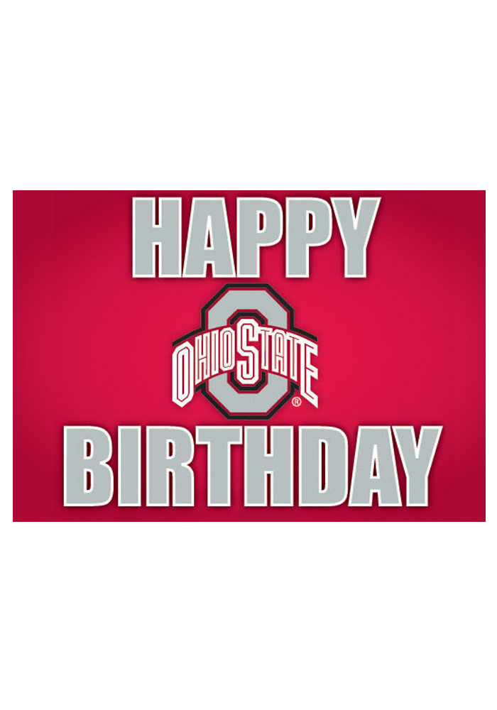 ohio state birthday card ; 21230278-1