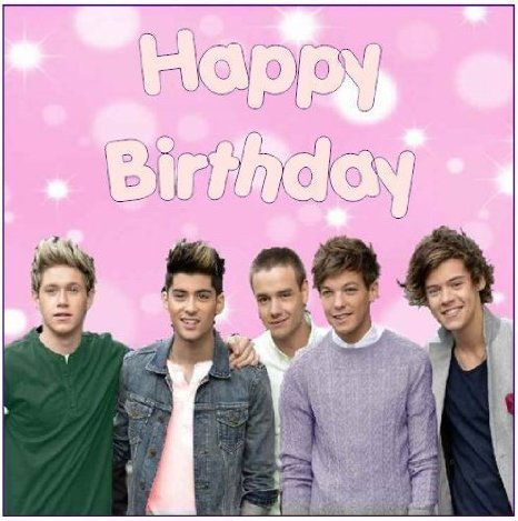 one direction happy birthday ; one-direction-happy-birthday-square-7-5-cake-topper-edible-sugar-icing_4481646