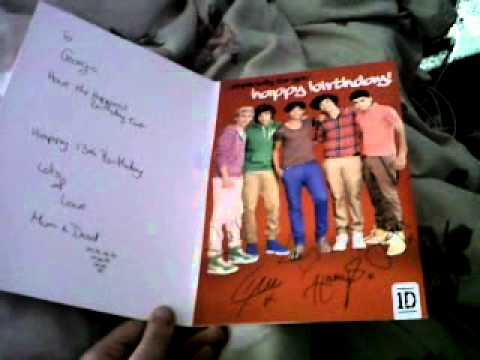 one direction singing happy birthday card ; hqdefault