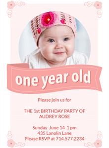 one year birthday invitation ; baby-girl-first-birthday-invitations-with-appealing-Birthday-Invitation-for-your-invitation-design-5-220x300