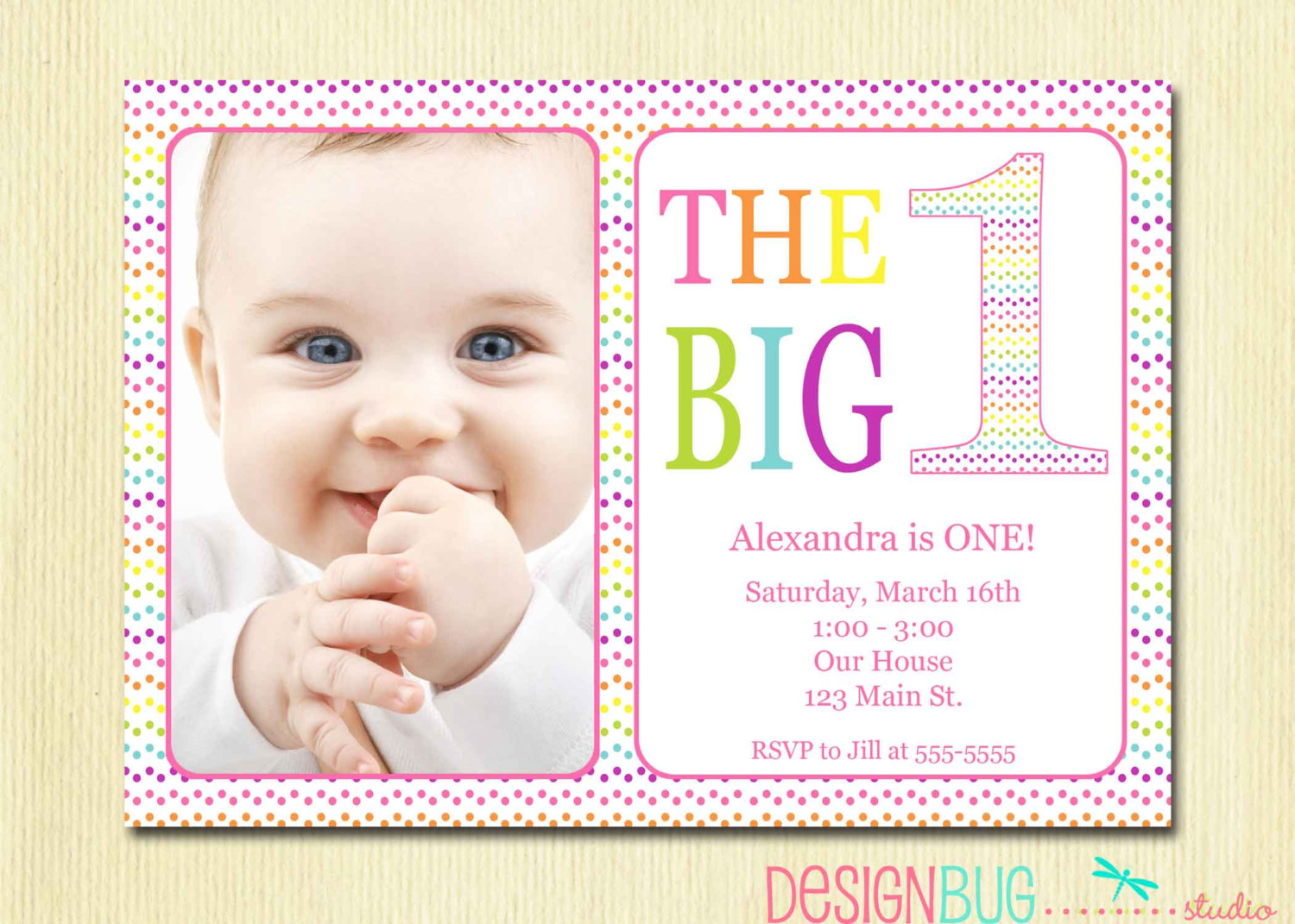 one year old birthday invitation templates ; Chic-Baby-Girl-First-Birthday-Invitations-As-Birthday-Invitations