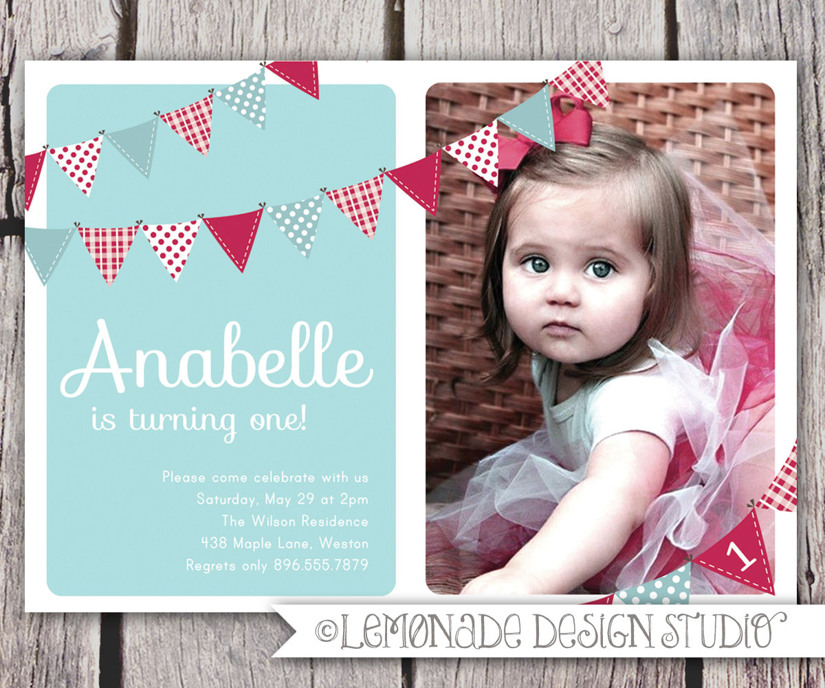 one year old birthday invitation templates ; Stunning-One-Year-Old-Birthday-Invitations-Which-Can-Be-Used-As-Custom-Birthday-Invitations