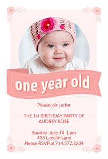 one year old birthday invitation templates ; first-birthday-invitation-template-fitted-photos-baby-girl-invitations-in-support-of-your-templates-with-awesome-ornaments-15