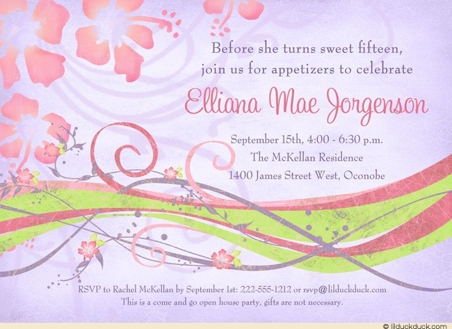 open house birthday party invitation wording ; open-house-birthday-party-invitation-wording-appetizer-party-invitation-wording-sweet-15-open-house-invitation