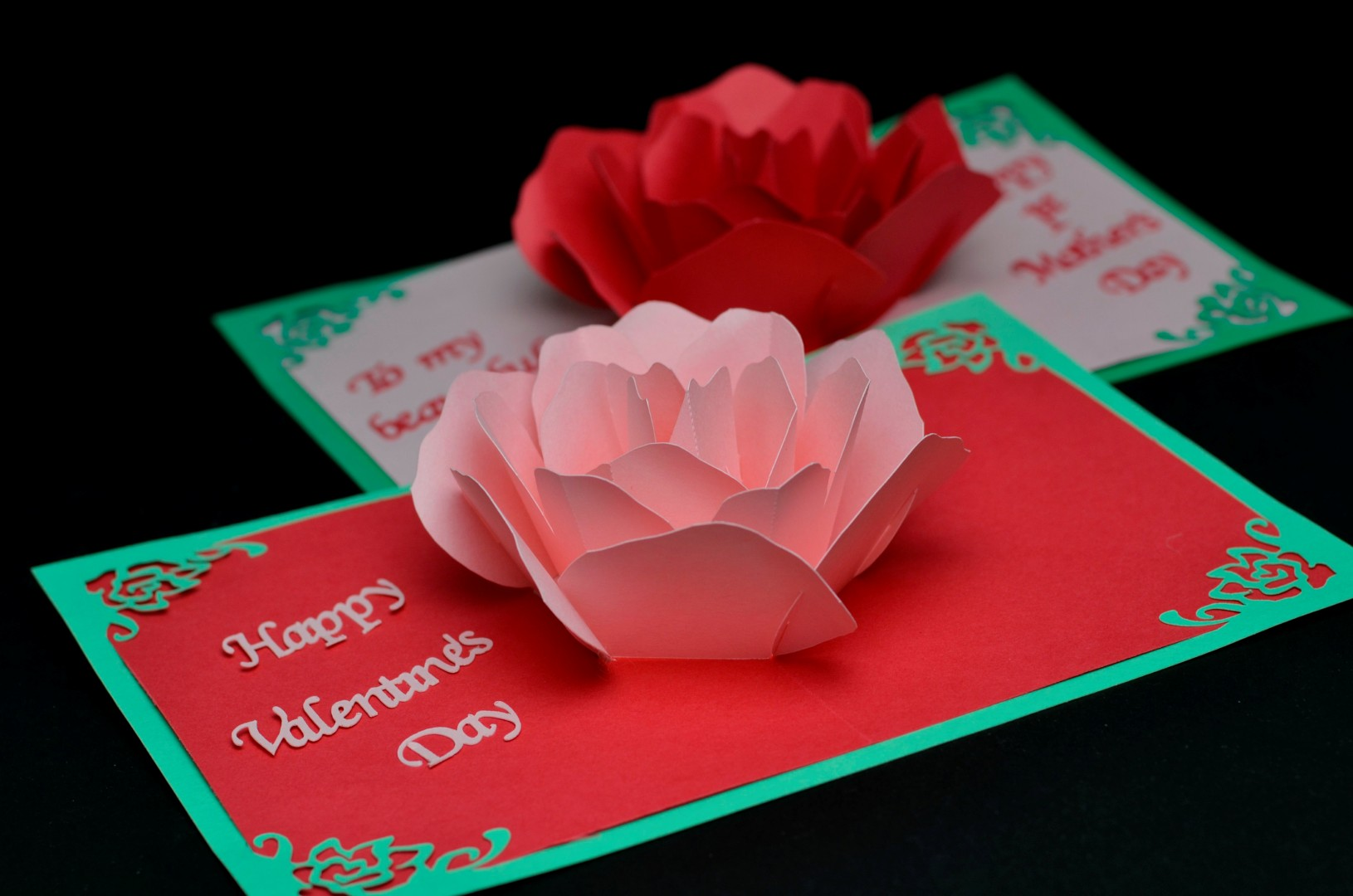 origami birthday card instructions ; Valentines-day-card-rose