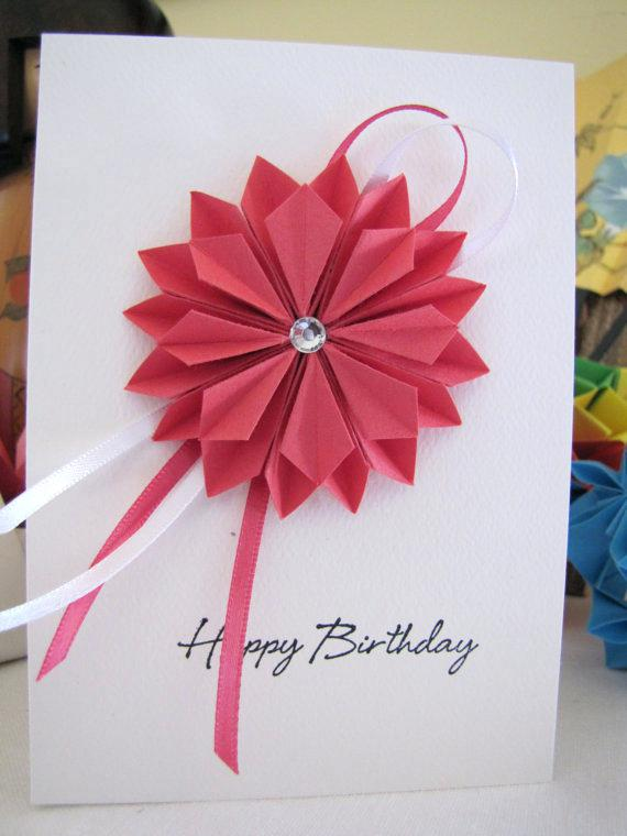 origami birthday card instructions ; origami-birthday-card-items-similar-to-origami-dahlia-birthday-card-pink-on-easy-origami-birthday-card-instructions