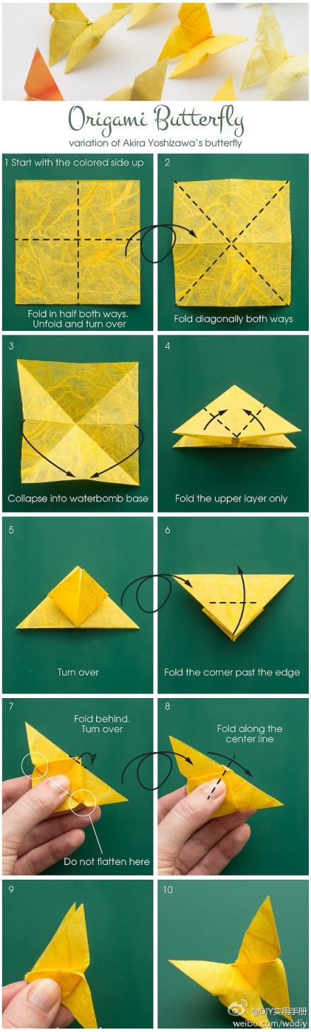origami birthday card instructions ; origami-butterfly-instructions