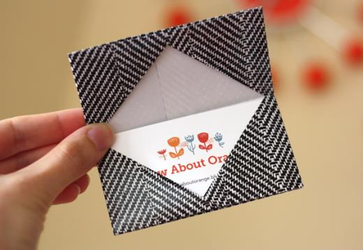 origami birthday card instructions ; origami-card-holder-instructions-520x358