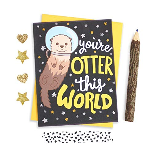 otter birthday card ; 71ykMtQjeVL
