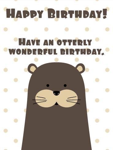 otter birthday card ; bf_b_day65-6ea07a5f0a4f3f6670f9a9905d9235a3