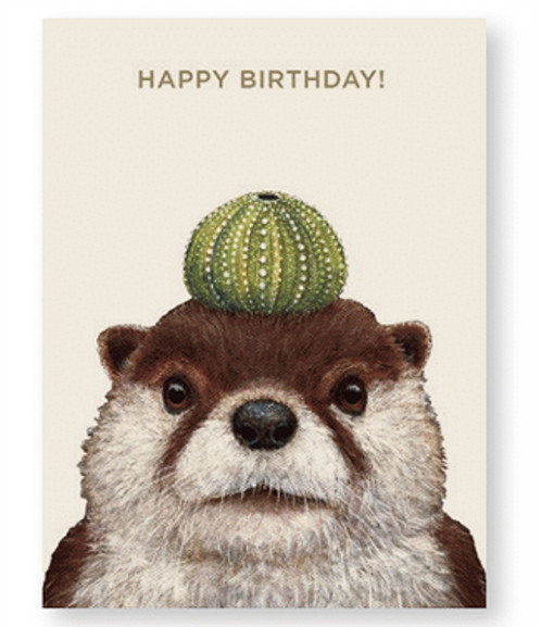 otter birthday card ; file