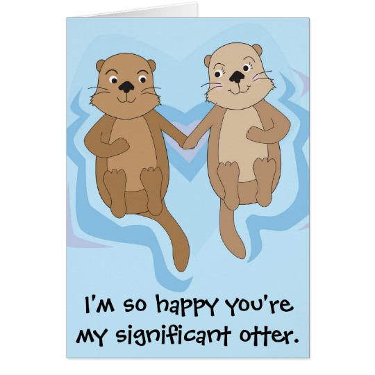 otter birthday card ; funny_happy_birthday_card_w_otters_holding_hands-r91ba98e35b1f44f79d61ba47cd8d3cf6_xvuat_8byvr_540