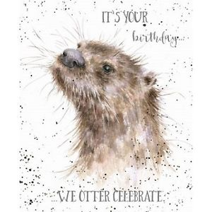 otter birthday card ; s-l300