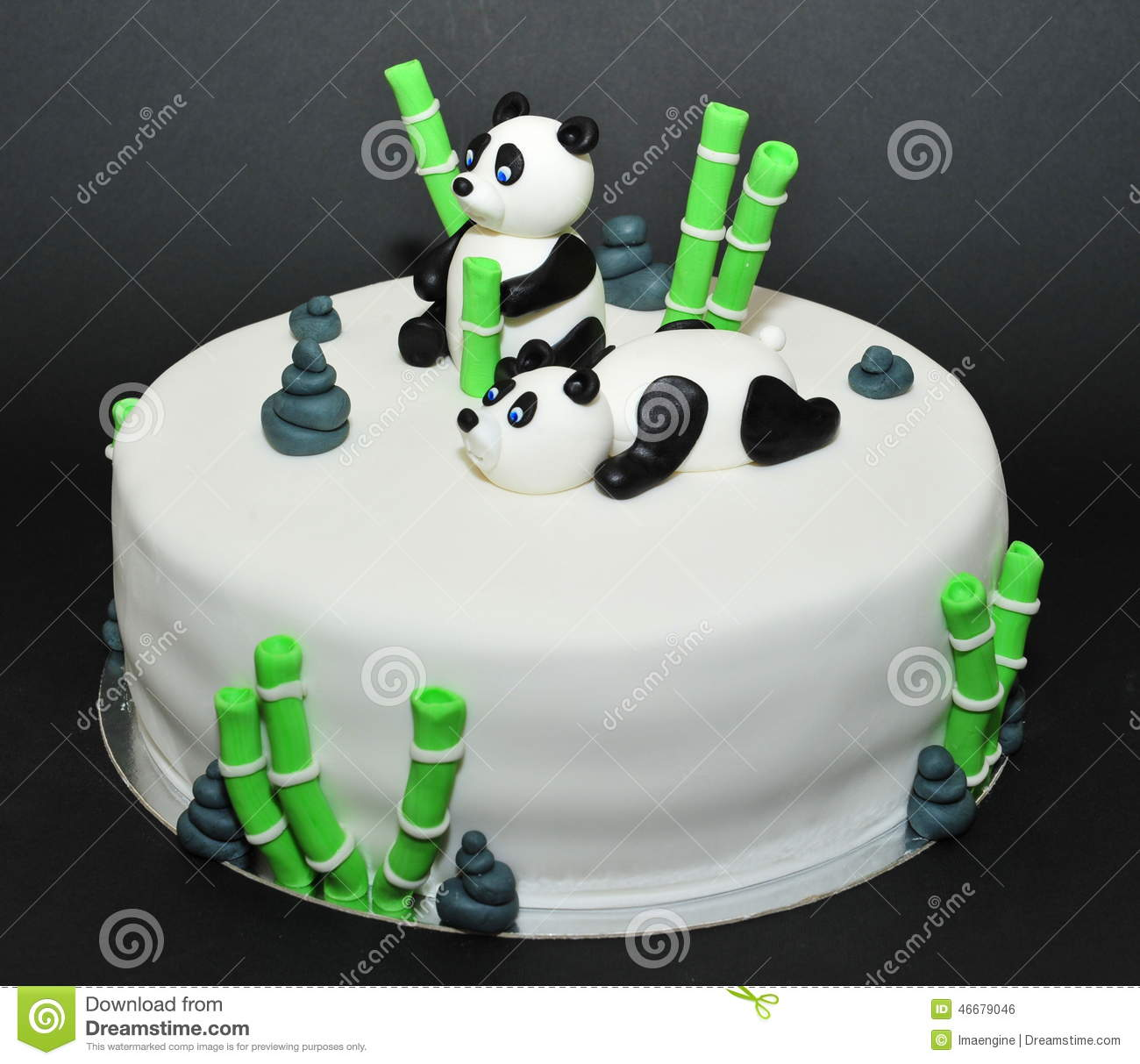 panda birthday cake template ; panda-bears-fondant-birthday-cake-beautifully-crafted-figurines-46679046