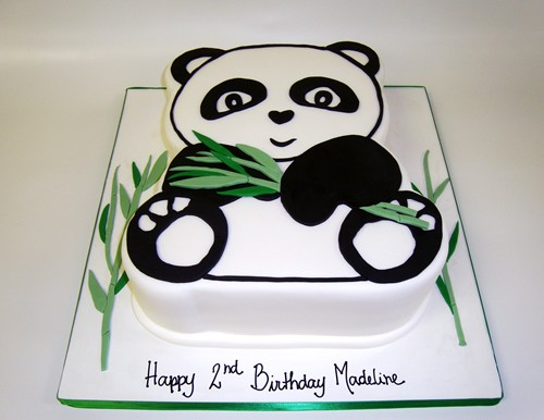 panda birthday cake template ; panda