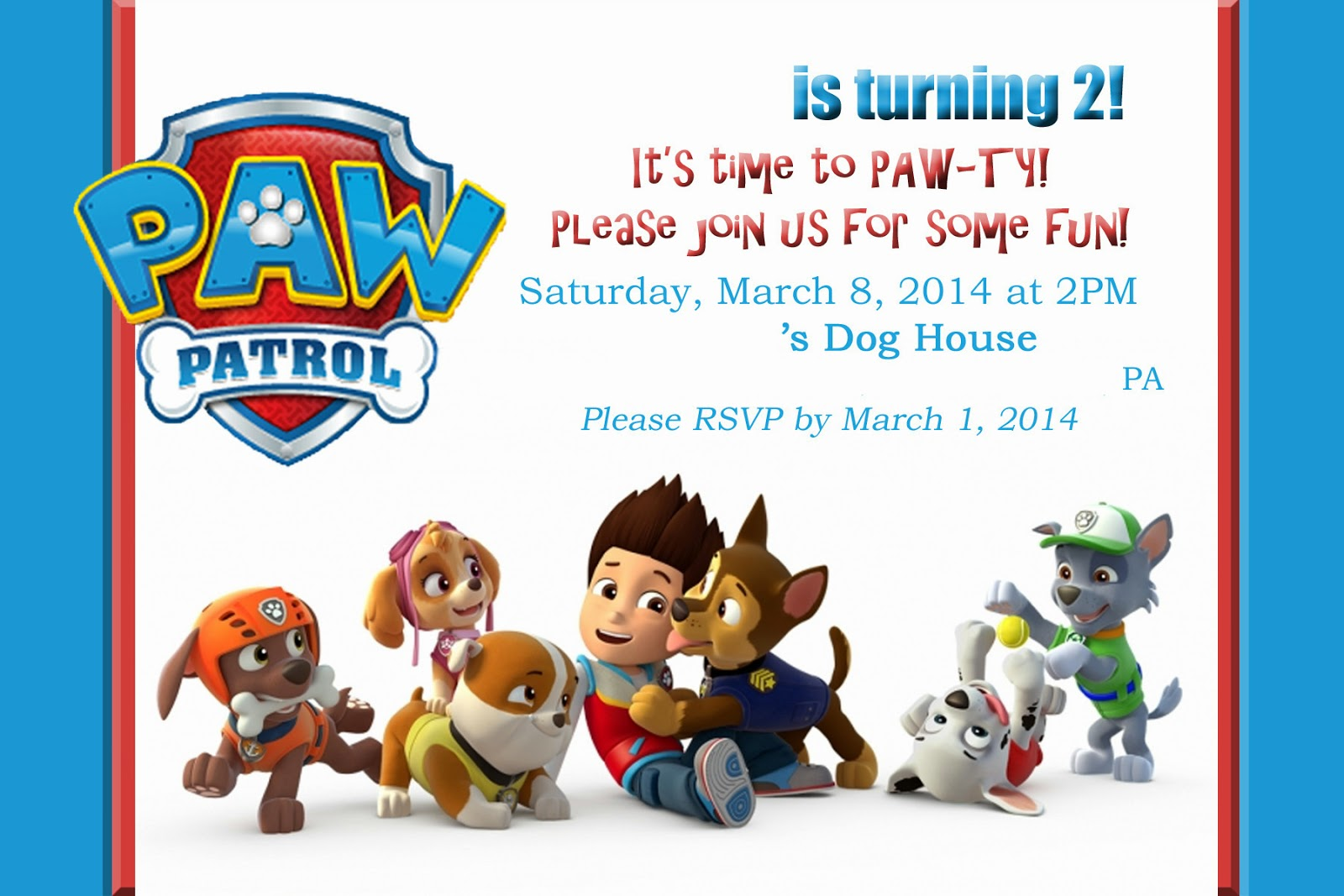 paw patrol birthday design ; Paw-patrol-party-invitations-to-inspire-you-how-to-create-the-party-invitation-with-the-best-way-1