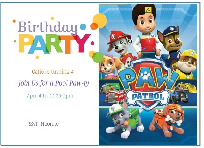 paw patrol birthday design ; Remarkable-Paw-Patrol-Birthday-Invitations-To-Create-Your-Own-Birthday-Invitations