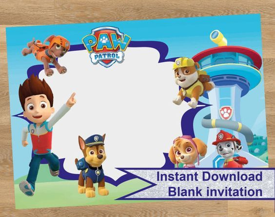 paw patrol birthday design ; paw-patrol-birthday-invites-by-way-of-using-an-impressive-design-concept-for-your-beauteous-Birthday-Invitation-Templates-20