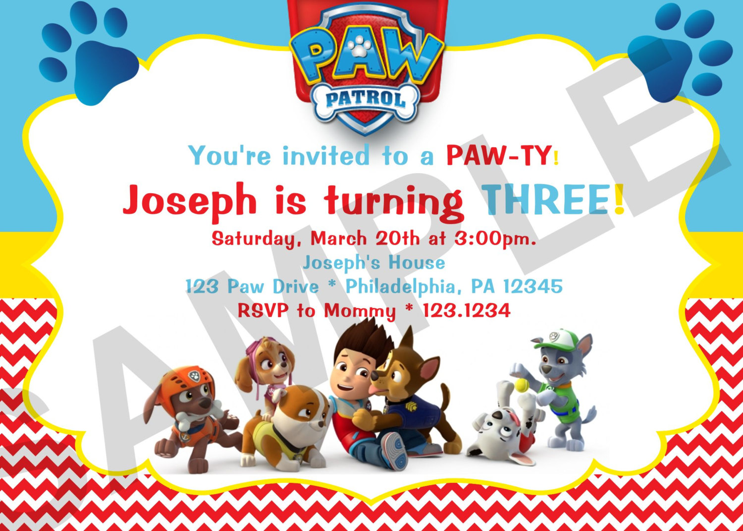 paw patrol birthday design ; paw-patrol-birthday-party-invitations-for-complete-your-Birthday-Invitation-with-comely-design-13