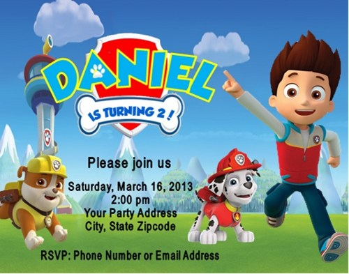 paw patrol birthday design ; paw-patrol-birthday-party-invitations-with-breathtaking-concept-of-Birthday-Invitation-Cards-invitation-card-design-9