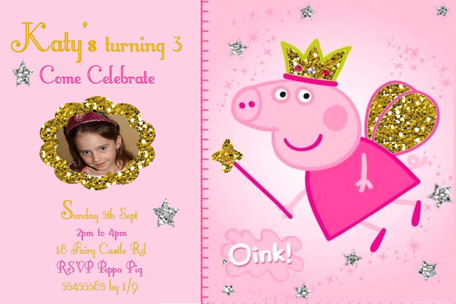 Peppa Pig Birthday Party Invitation Template Free Interiorhalloween