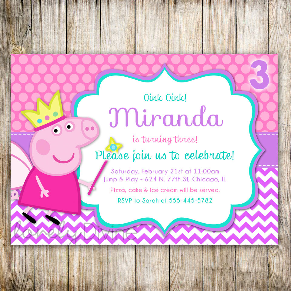 peppa pig birthday party invitation template free ; peppa-pig-birthday-invitations-by-means-of-creating-adorable-outlooks-around-your-Birthday-Invitation-Templates-13