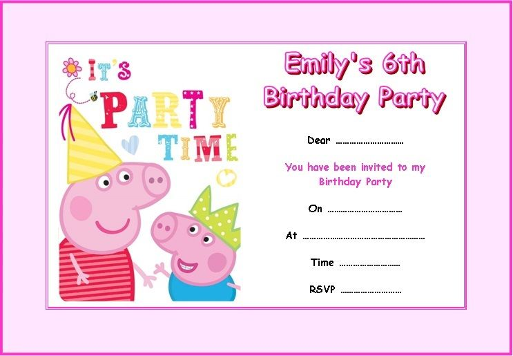 peppa pig birthday party invitation template free ; peppa-pig-party-invitations-by-way-of-using-an-impressive-design-concept-for-your-charming-Party-Invitation-Templates-19