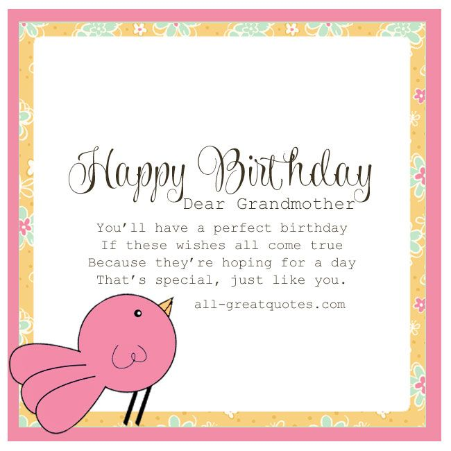 perfect birthday card message ; grandmother-birthday-card-messages-ff8fa9139d3dbf857f951c880464f053