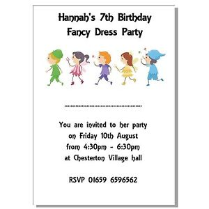 personalised childrens birthday party invitations ; s-l300