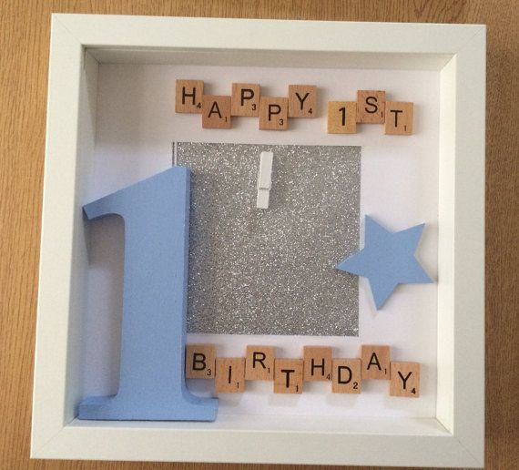 personalised first birthday photo frame ; 1fb0df233d7033ae731cbbb1f110e005