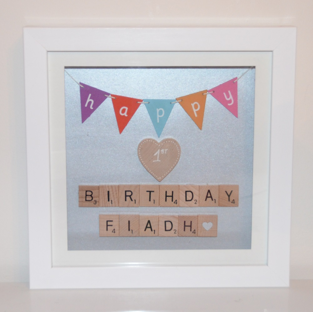 personalised first birthday photo frame ; 4624757568