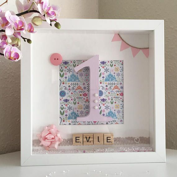 personalised first birthday photo frame ; 48de595d75e15b0ff92f41b0ce71f7df