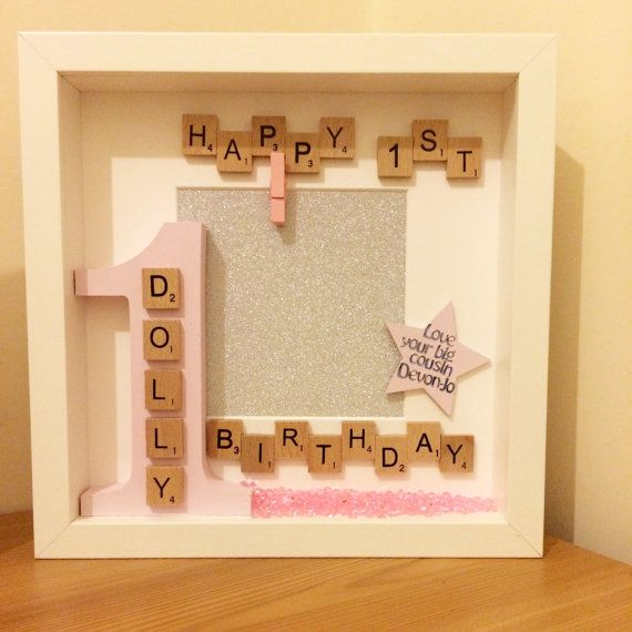 personalised first birthday photo frame ; 6f87edd988b9ac934f95249a65c829ee--frames-ideas-box-frames