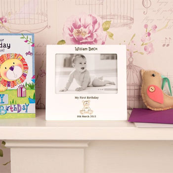 personalised first birthday photo frame ; BG-29900001