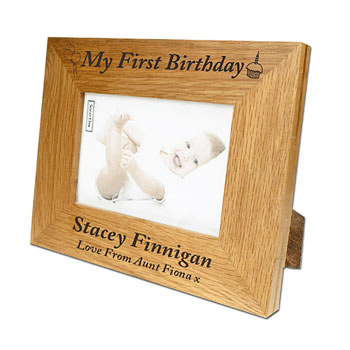 personalised first birthday photo frame ; BG-3522