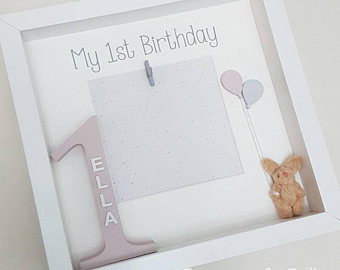 personalised first birthday photo frame ; il_340x270