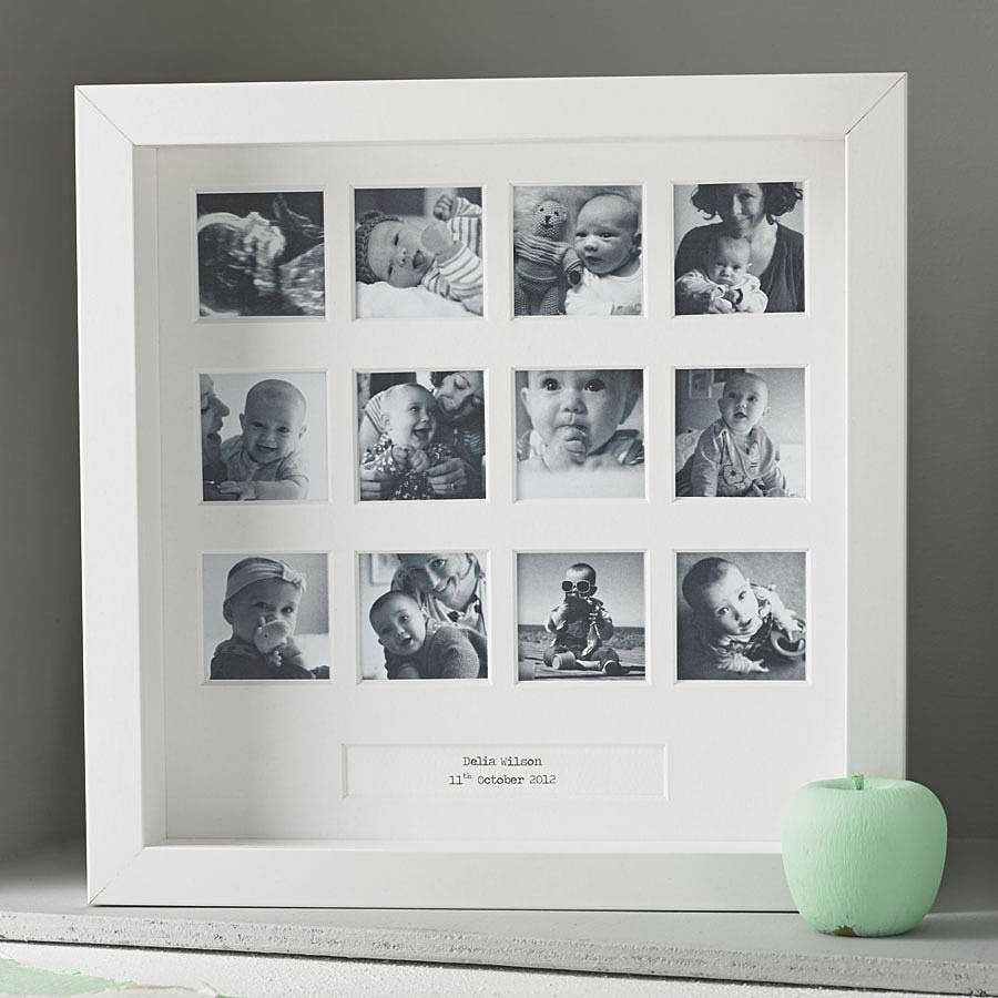 personalised first birthday photo frame ; original_personalised-my-first-year-photo-frame