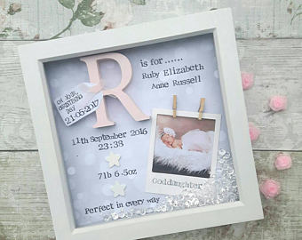 personalised first birthday photo frame ; personalised-first-birthday-photo-frame-il-340x270
