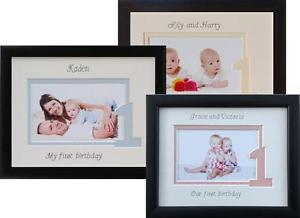 personalised first birthday photo frame ; s-l300