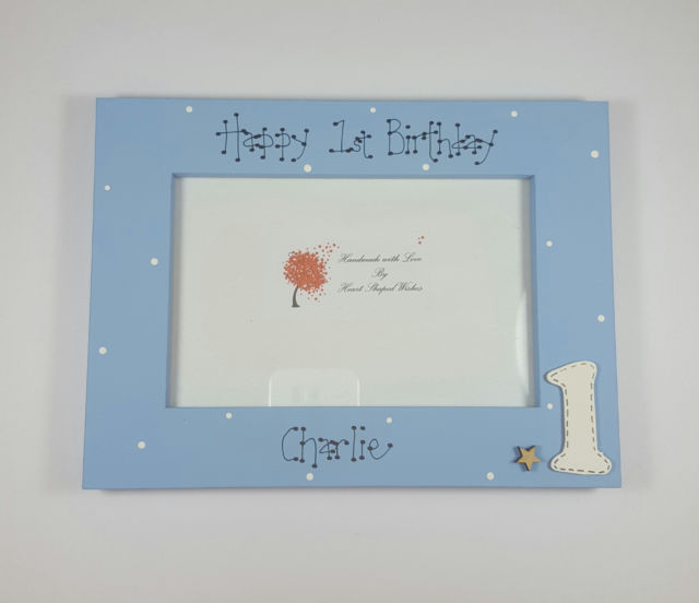 personalised first birthday photo frame ; s-l640