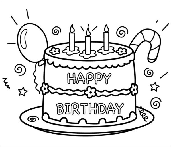 personalized birthday coloring pages ; Personalized-Happy-Birthday-Coloring-Page1