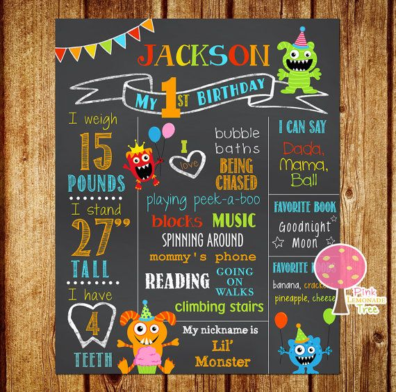 personalized birthday signs ; 81c62bd587020d94701c90881fb03464--first-birthday-sign-birthday-signs