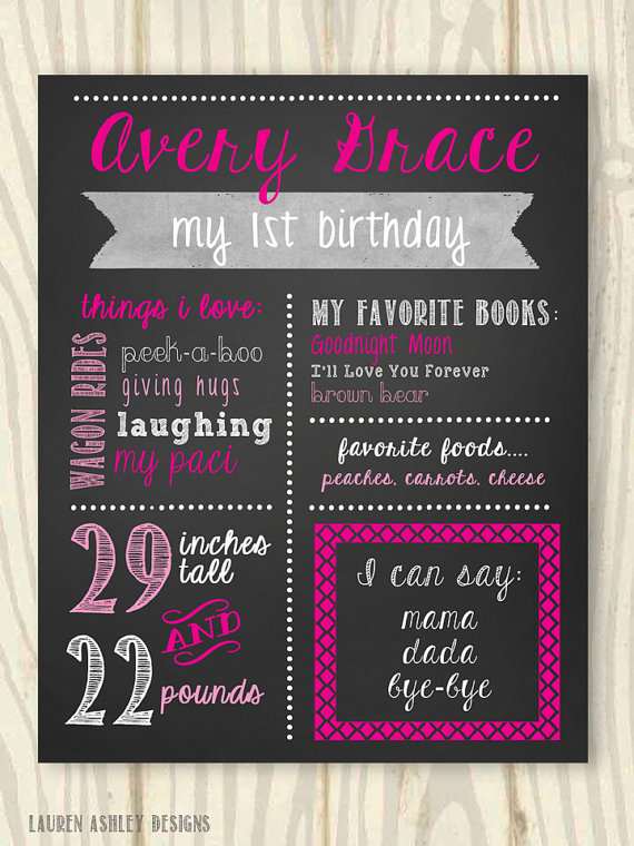 personalized birthday signs ; dae25125e7e48c48586a0f30f9f927be
