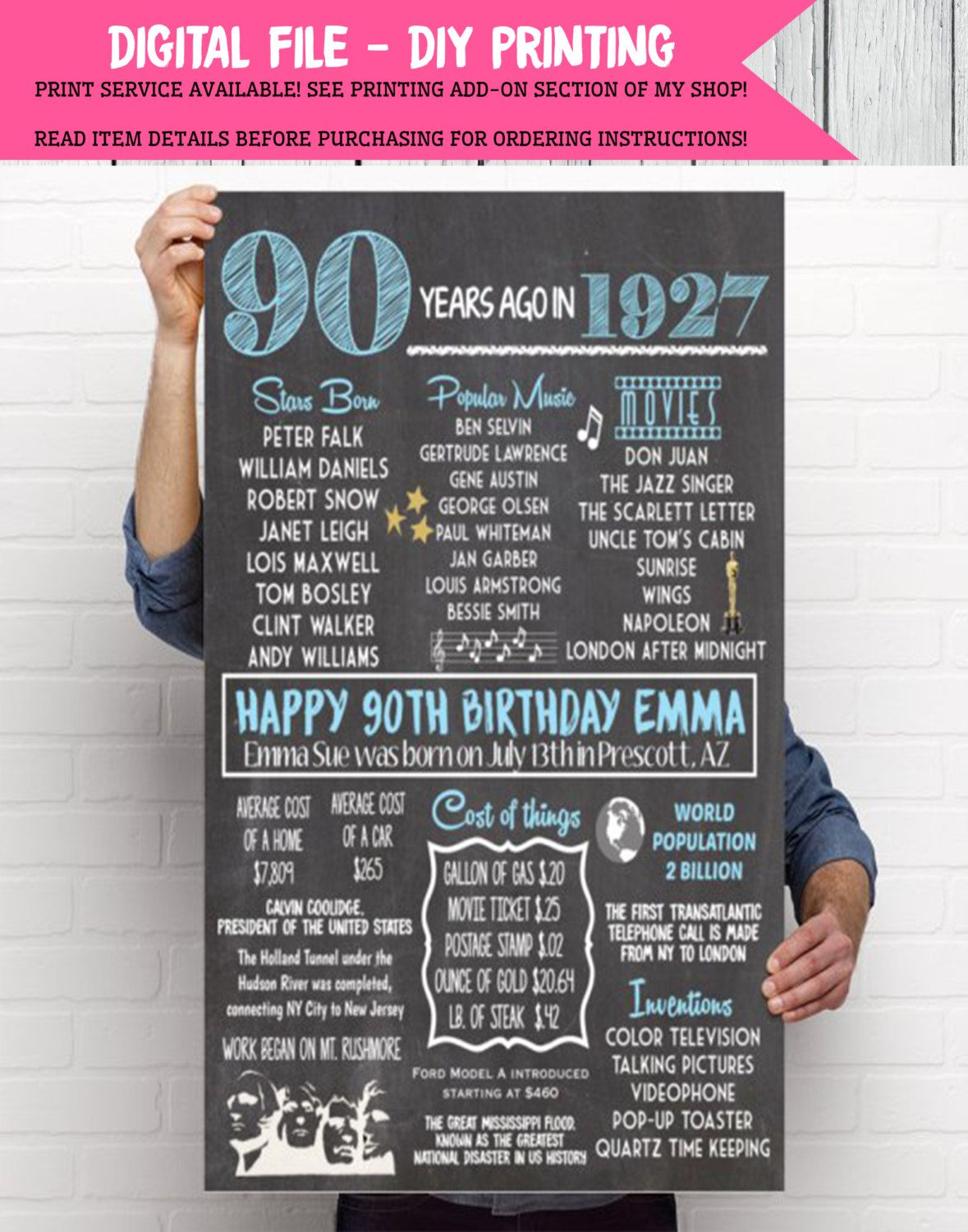 personalized birthday signs ; f07795cd7125e9988cc32210013c5d0d