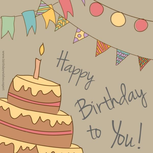 photo ecards birthday free ; Birthday-wish-for-a-friend-on-background-with-cake-and-celebration-garlands-600x600