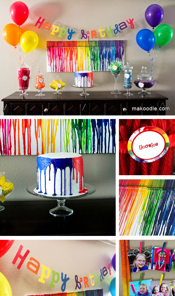 photo idea for birthday ; Art-Rainbow-Birthday-Party-2
