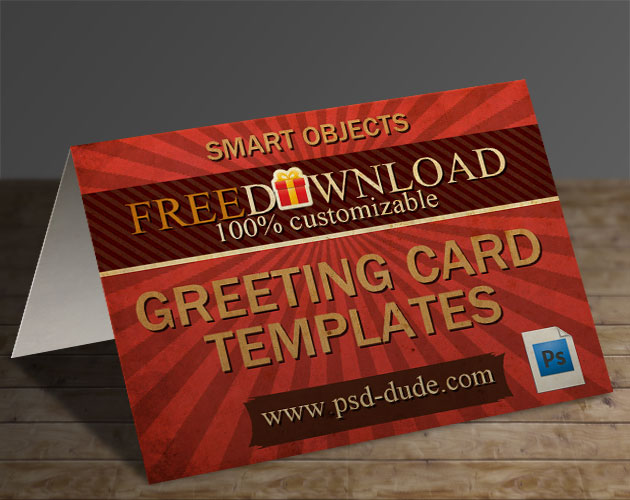 photoshop birthday card template free ; greeting-card-template-psd
