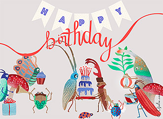 picture birthday ecards ; INSECTPARADE01