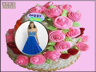 picture frame birthday cake ; birthday-cakes-photo-frames-app-for-android-4